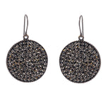 1342 medium round disc earrings