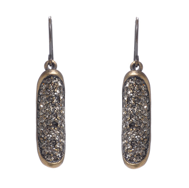 1378 folded oval drop earrings