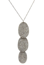 1734 triple crystal drop necklace, black diamond