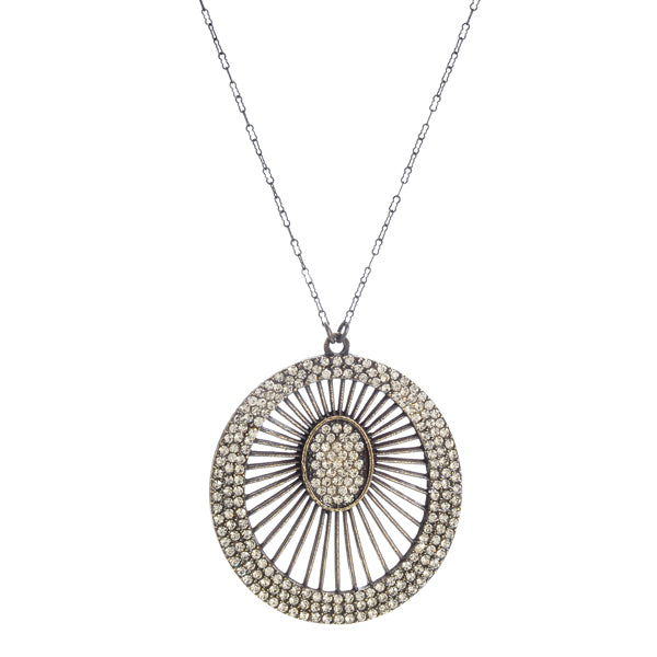 Off-Center Spider Web Necklace