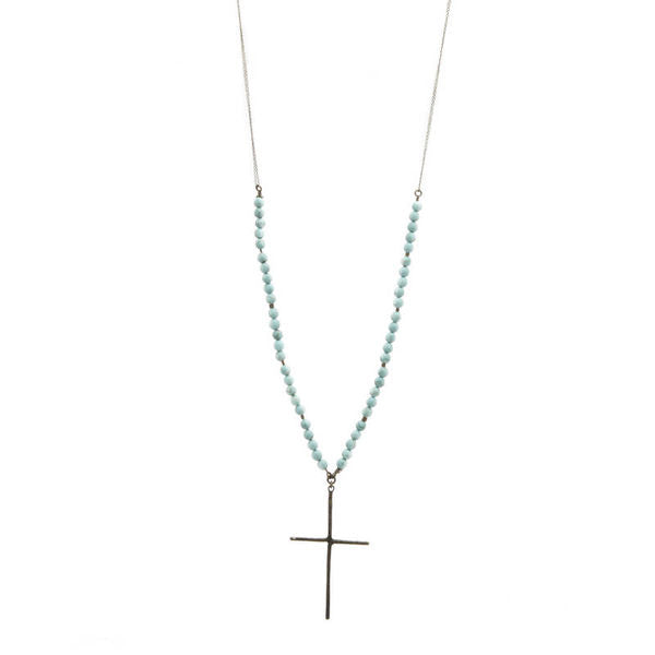 cross necklace, handcrafted