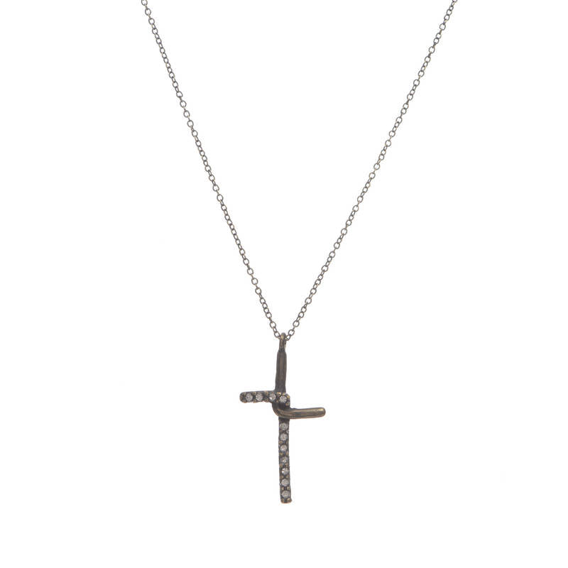 Small Interlocked Cross Necklace