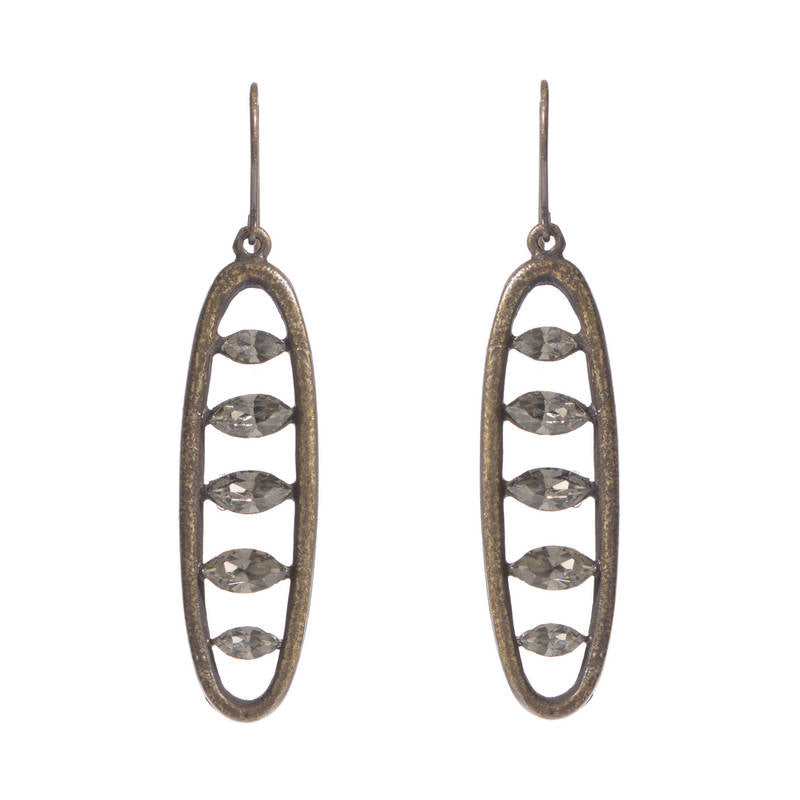 3009 open work navette earrings