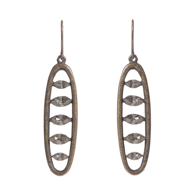 Open Oval Earrings with Navettes