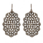 3010 oval crystal filigree earrings