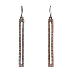 3017 skinny rectangle crysstal earrings