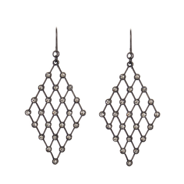 Diamond Crystal Mesh Earrings