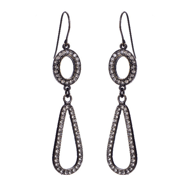 3063 double drop earrings