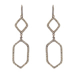 3086 double geo drop earrings