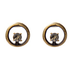 3089 off-center crystal stud earrings