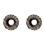 3090 open circle crystal stud earrings