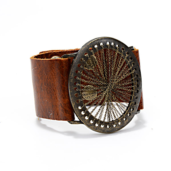 leather bracelet, handmade