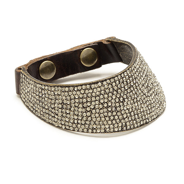 5157 crystal shield bracelet, vintage brown w black diamond