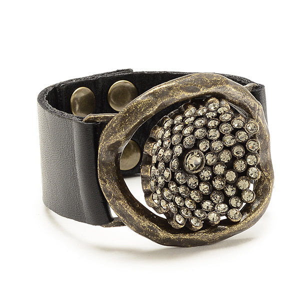 statement jewelry, leather cuffs, handmade