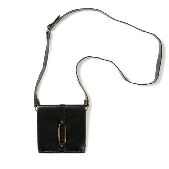 51B small square bag in black leather