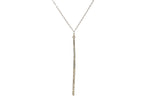 846 crystal stick necklace, black diamond