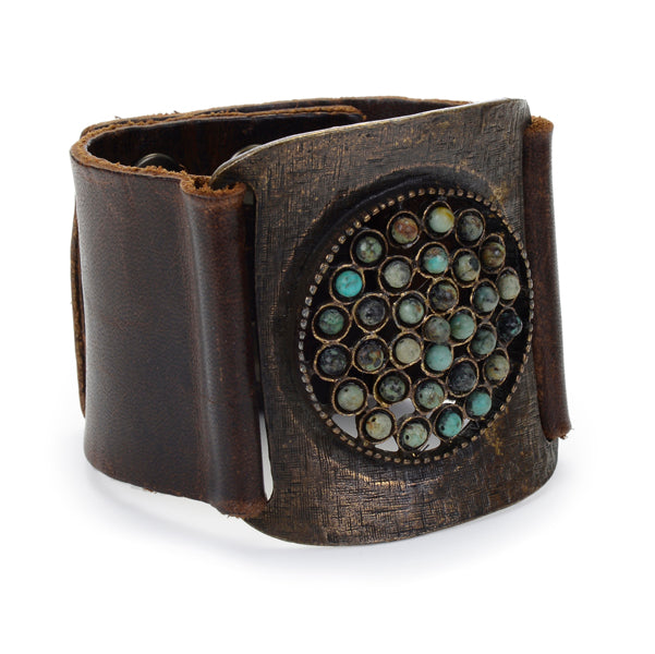 959/L large buckle with cluster center bracelet