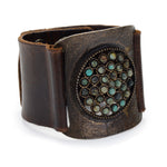 leather cuffs, handcrafted