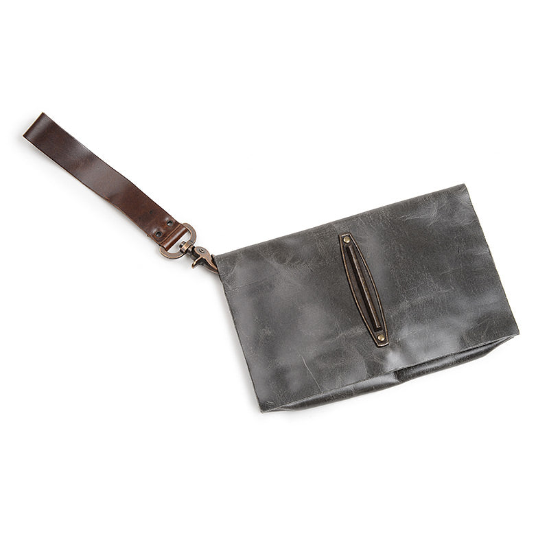 leather bag, handcrafted, clutch