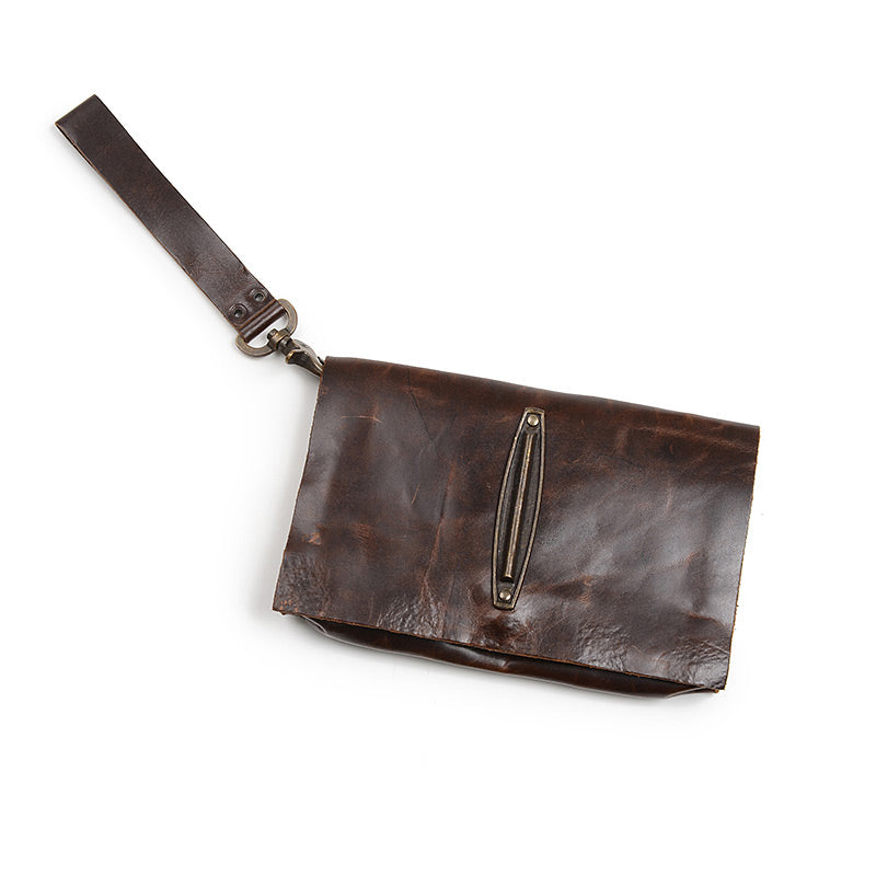 leather clutch, handcrafted
