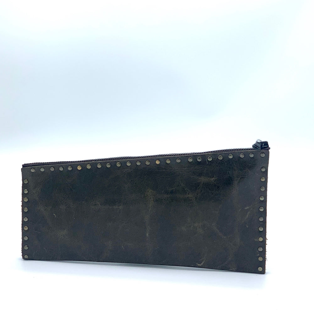 leather bag, clutch, handmade