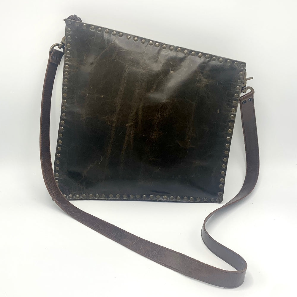 Slanted Rectangle Cross Body Bag
