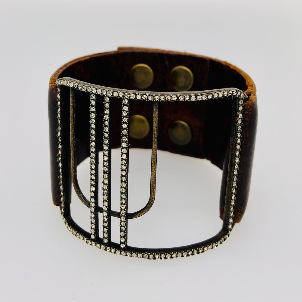 Open Center Curved Cage Bracelet