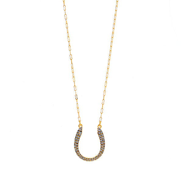 Small Pave Horseshoe Necklace