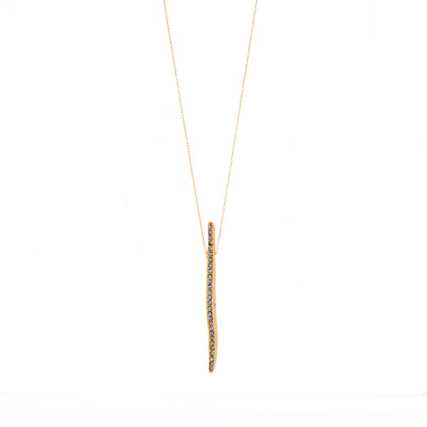 RR131 quirky stick necklace, black diamond
