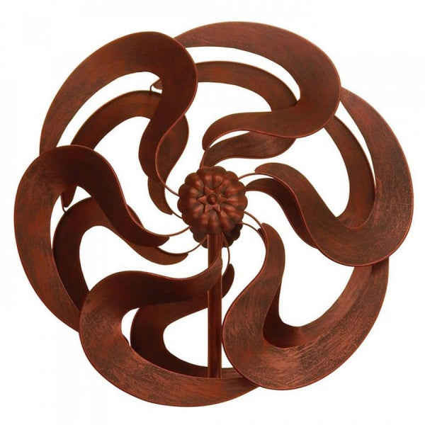 "75"" Bronze Flower Windmill Stake"