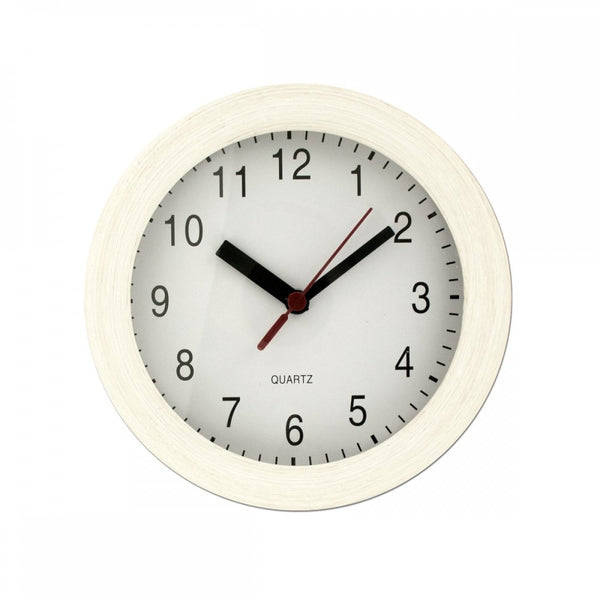 Small Beige Round Wall Clock