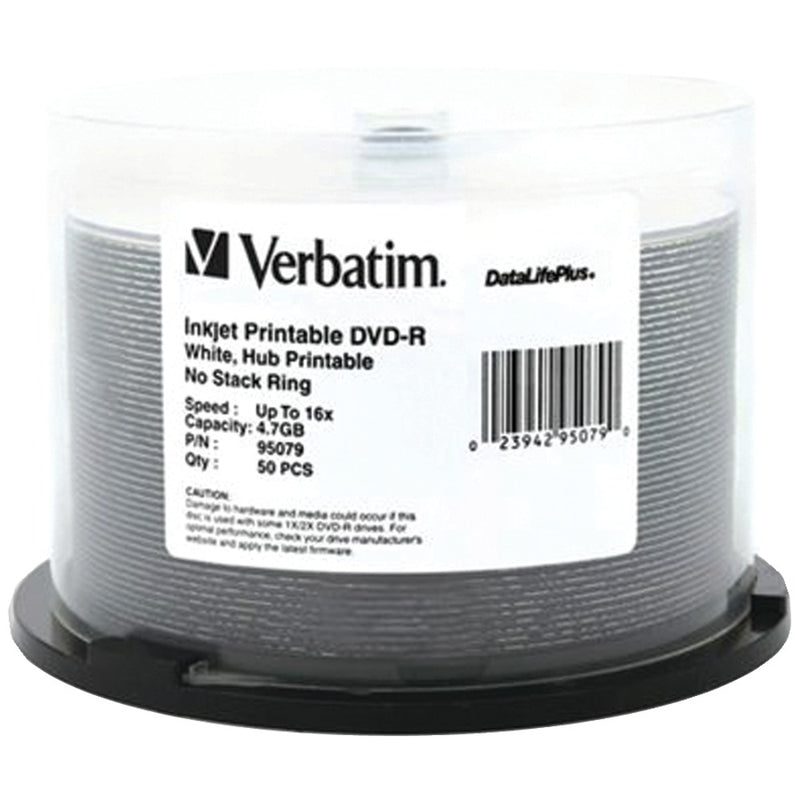 Verbatim 4.7gb Datalifeplus Dvd-rs 50-ct Spindle