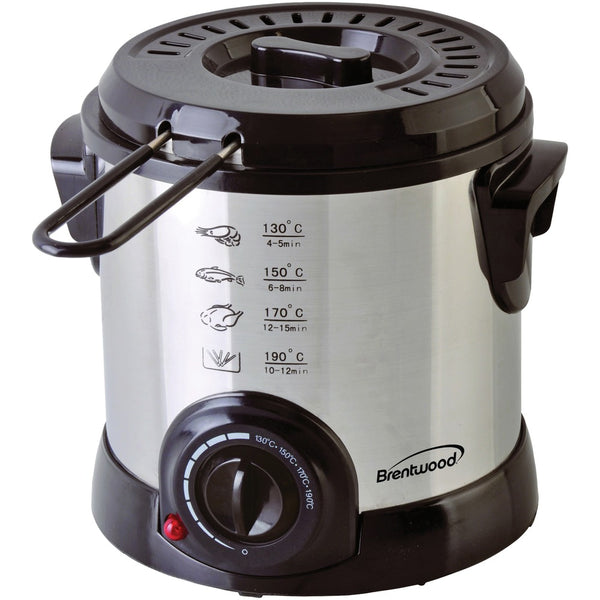 Brentwood Appliances 1-liter Stainless Steel Electric Deep Fryer