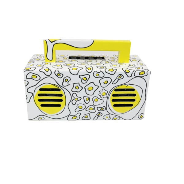 Qfx Bluetooth Streaming Tws Ready Lightshow Speaker (yellow)