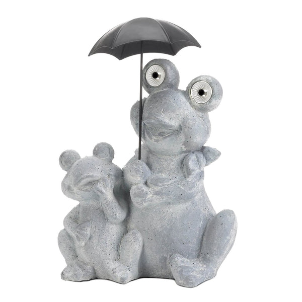 Frogs Under Umbrella Solar Decoration