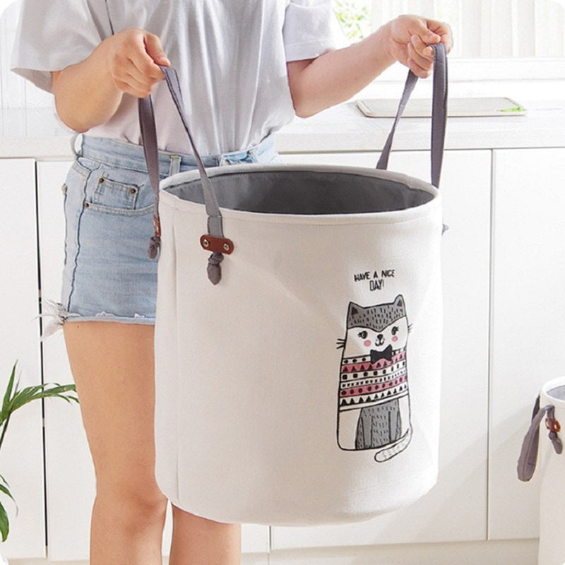 Cartoon Fabric Laundry Basket Bag - Homelylab