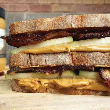 Apple Bacon & Peanut Butter Double Decker