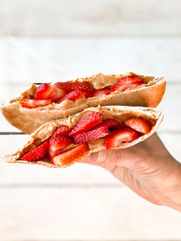 Peanut Butter & Strawberry Pita