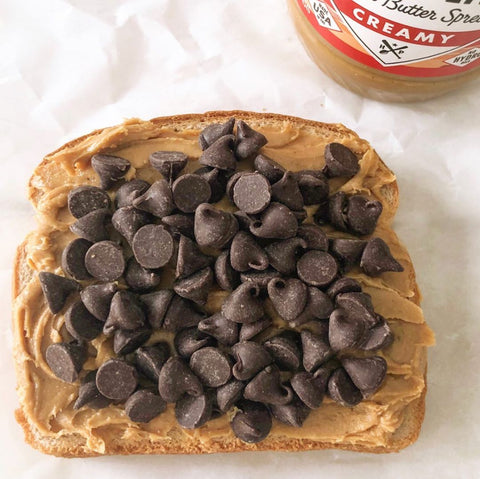 peanut butter chocolate chips toast homeplate