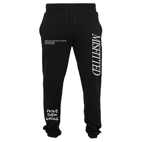 Black Heavy Sweatpants - MisFitted