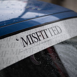 White MisFitted Windshield Banner