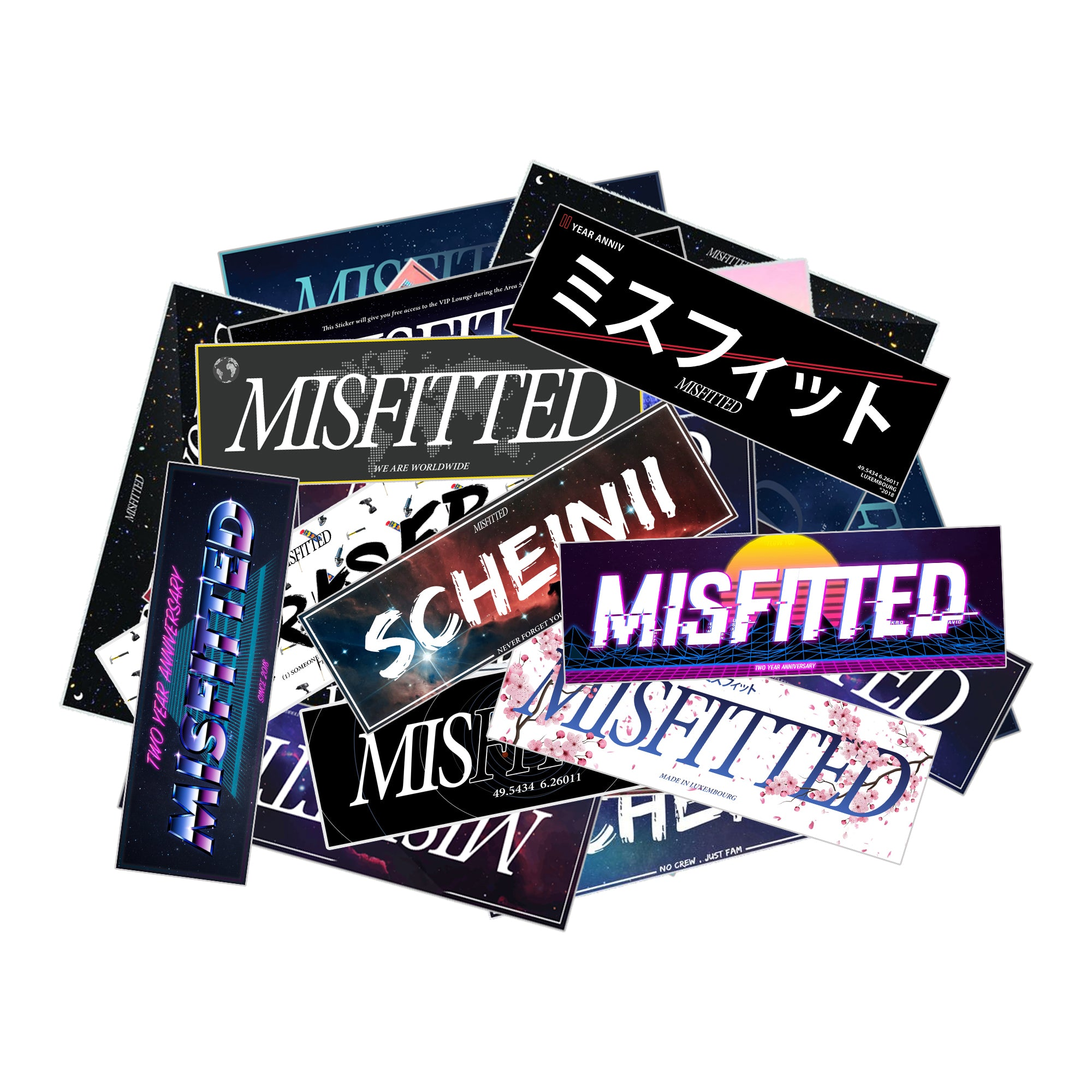 MisFitted Sticker Pack - MisFitted