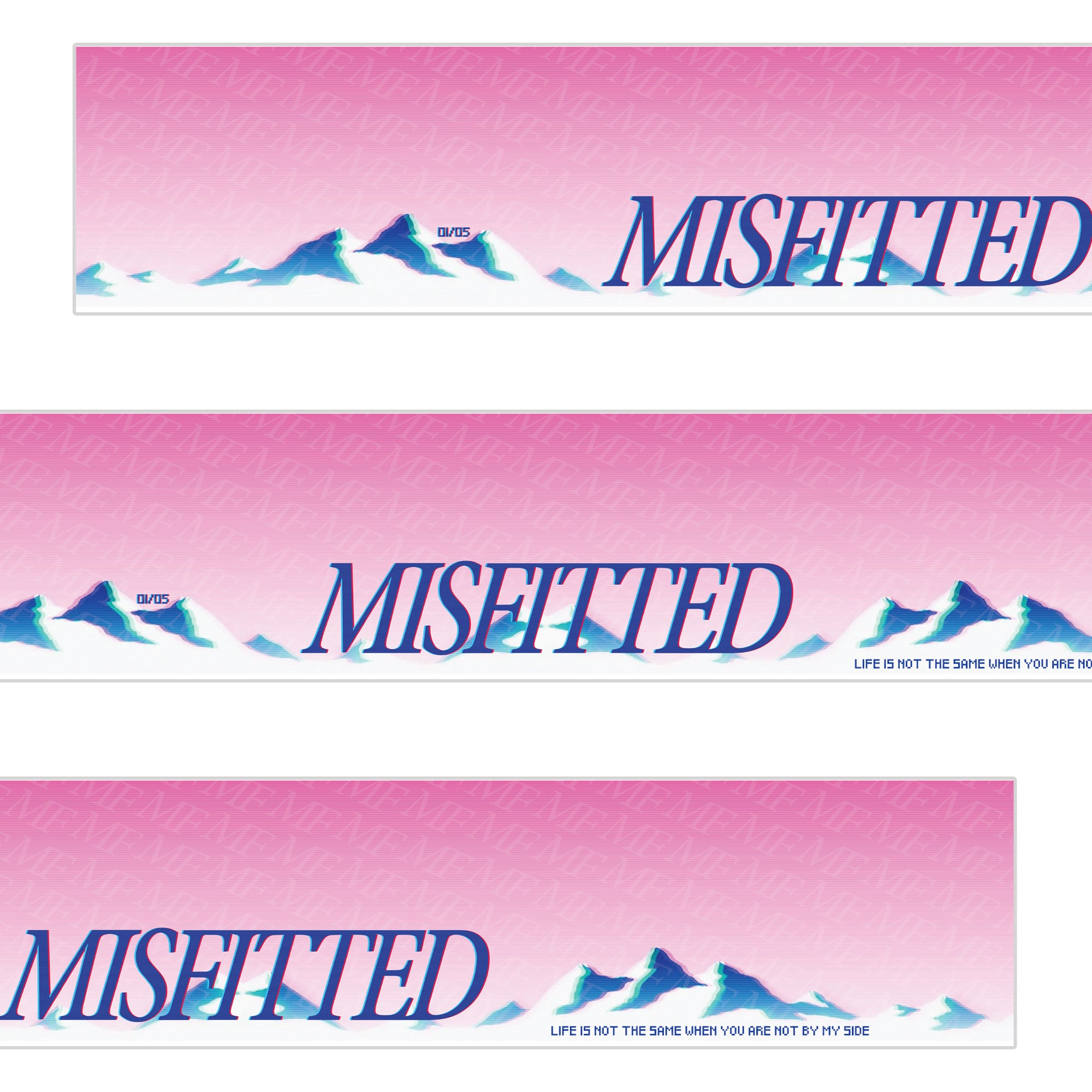Vaporwave Windshield Banner - MisFitted.eu