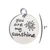 Image of Inspirational Jewelry Engraved Message You are my Sunshine Quote Token Pendant Necklace for friendship, wedding gift jewelry - Perfect Gift for Women, Men, Teens, Girls