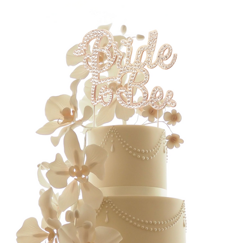 Bride to Be Rose Gold Cake Topper