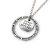 Image of Never Give Up Pendant - Motivational Custom Message - Perfect Gift for Women, Men, Teens, Girls
