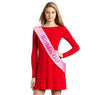 "Image of Fashionable Pink Satin Sash ""Birthday Girl"" with Hot Pink Encased Lettering - 15th, 16th, 17th, 18th, 21st, 22nd, 25th, 30th Birthday Party - Happy Birthday Sash"