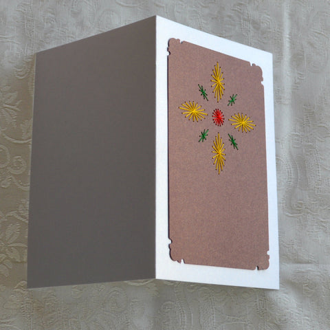Card Embroidery - Completed Greeting Card