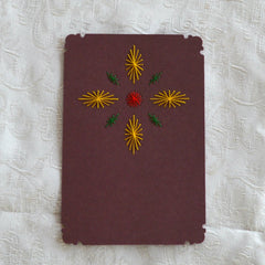 Card Embroidery - Inset Card with decorative corners