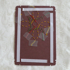 Card Embroidery - Back of Design with Double Sided Tape